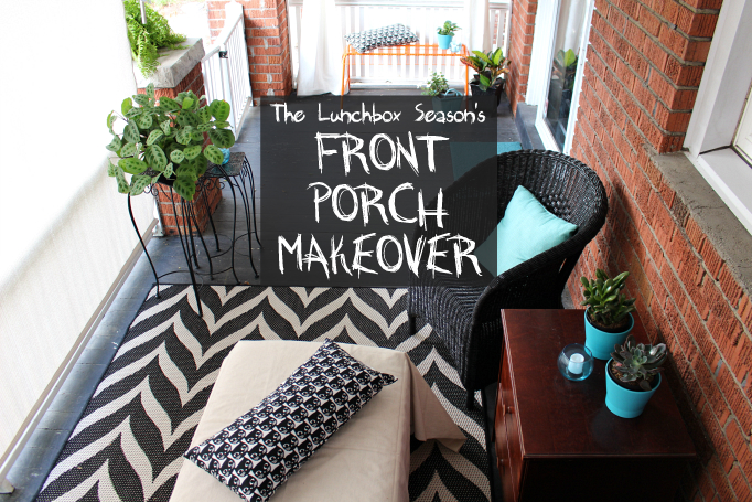 The Lunchbox Season's Budget Friendly Front Porch Makeover