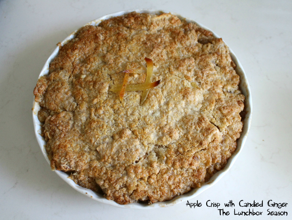 Apple Crisp with Candied Ginger