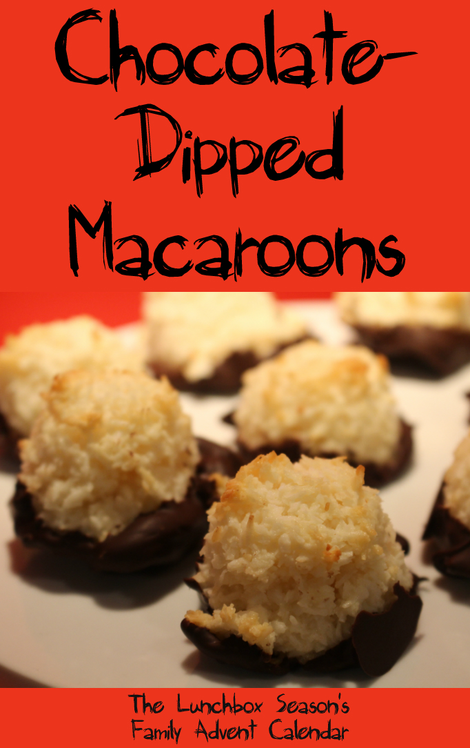 make-chocolate-dipped-macaroons-chocolate-dipped-coconut-macaroons-the-lunchbox-seasons-family-advent-calendar